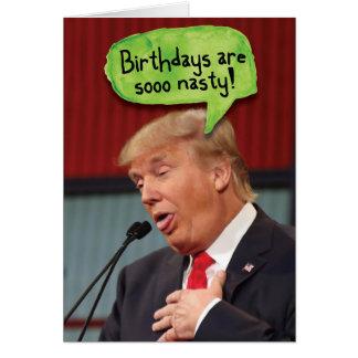 Trumpf-ekliger Geburtstags-Geburtstags-lustige Karte