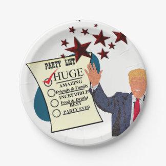 Trumpf-ENORMER Party-Feier-Papier-Teller Pappteller