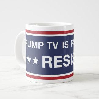 Trumpf Fernsehen ist Fake-Nachrichten Jumbo-Tasse