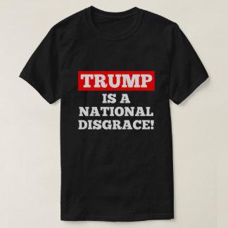 Trumpf ist ein nationaler Schande-Schwarz-T - T-Shirt