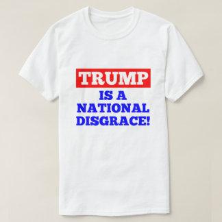 Trumpf ist ein nationaler Schande-Weiß-T - Shirt