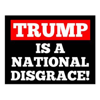 Trumpf ist eine nationale postkarte