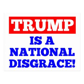 Trumpf ist eine nationale Schande-Weiß-Postkarte Postkarte
