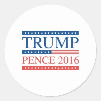 Trumpf-Pennys 2016 Runder Aufkleber