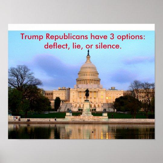 Trumpf-Republikanerplakat Poster