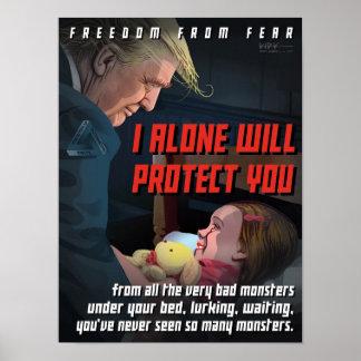 Trumpf schützt uns vor den Monstern Poster