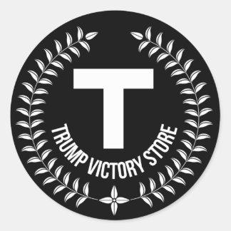 Trumpf-Sieg-Speicher-Aufkleber Runder Aufkleber