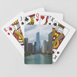 Trumpf-Turm Chicago River Spielkarten