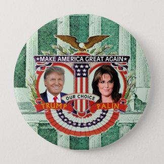 Trumpf u. Palin im Jahre 2016 Runder Button 10,2 Cm