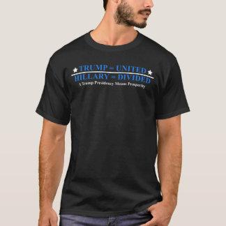 Trumpf = vereinigte Hillary = teilte Wahl-T-Stück T-Shirt