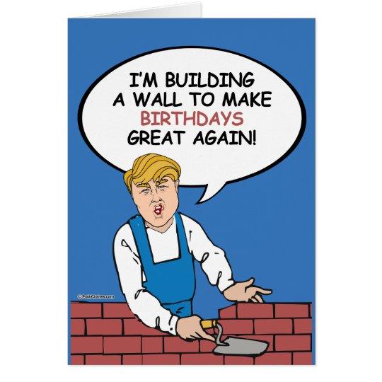 Trumpf-Wand-Geburtstags-Karte - errichten Sie eine Grußkarte