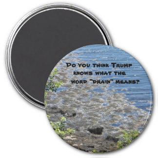 """Trumpf weiß, was """"Abfluss"""" bedeutet Runder Magnet 7,6 Cm"""