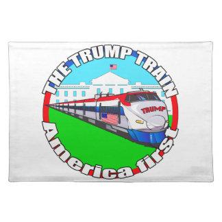 Trumpf-Zug Amerika zuerst Tisch Sets