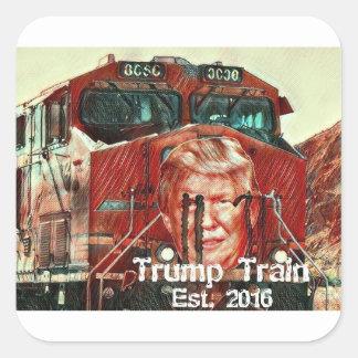 Trumpf-Zug… Est. 2016 Quadratischer Aufkleber