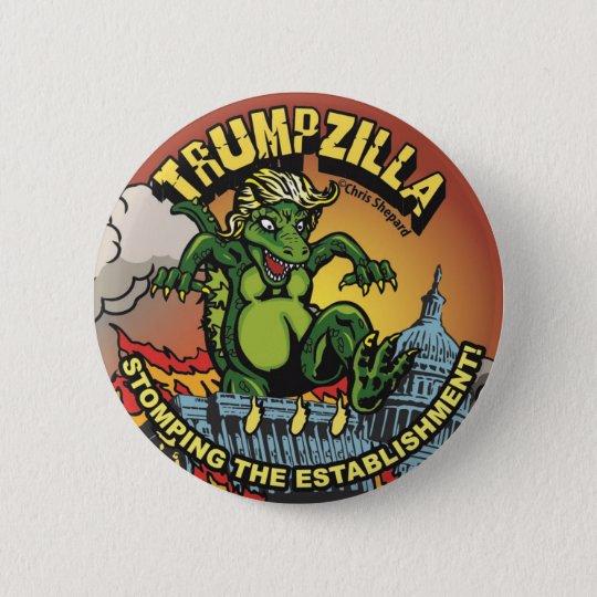 Trumpzilla! Godzilla politischer Runder Button 5,7 Cm