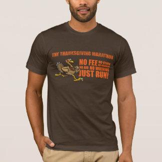 Truthahn mit Blocktext, Textlogo beunruhigt T-Shirt