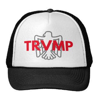 TRVMP Fernlastfahrerhut - Rot mit grauem Adler Trucker Mützen