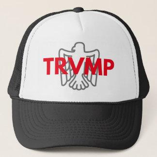 TRVMP Fernlastfahrerhut - Rot mit grauem Adler Truckerkappe
