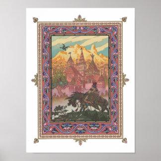 Tsarevich Iwan am Schloss des Falken Poster