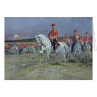 Tsarevich Nicolas, der die Truppen, 1899 Karte