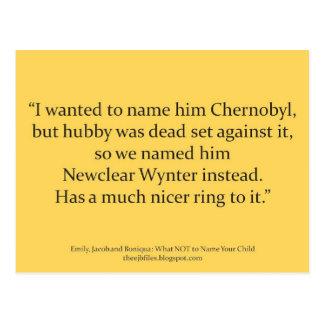 Tschornobyl Postkarte
