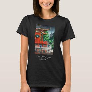 Tsuchiya Koitsu Asakusa Kannondo Tempel-Schienbein T-Shirt