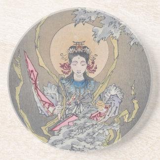 Tsukioka Yoshitoshis Göttin im Meer Untersetzer
