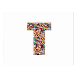 TTT perlt Edelsteine beschichtete ALPHA T Postkarte