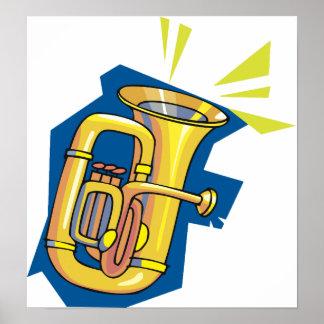 Tuba-Instrument-Plakat Poster
