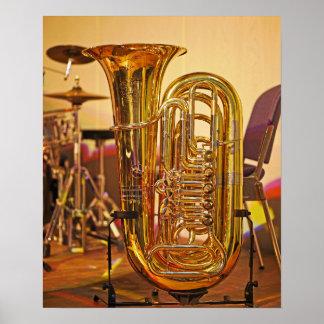 Tubamessingmusikinstrument Poster