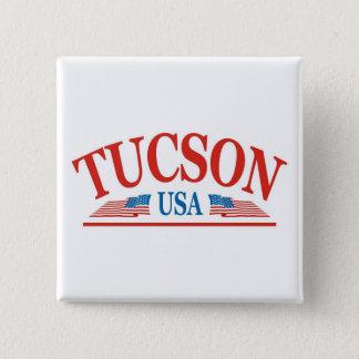 Tucson Arizona USA Quadratischer Button 5,1 Cm