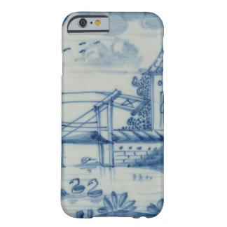 Tuile de Delft montrant un pont-levis au-dessus Coque iPhone 6 Barely There