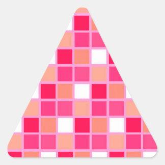 Tuiles espiègles de couleur de rouge à lèvres de autocollant en triangle