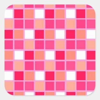 Tuiles espiègles de couleur de rouge à lèvres de sticker carré
