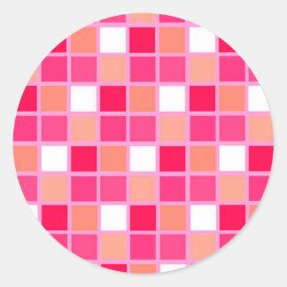 Tuiles espiègles de couleur de rouge à lèvres de sticker rond