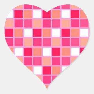 Tuiles espiègles de couleur de rouge à lèvres de autocollant en cœur