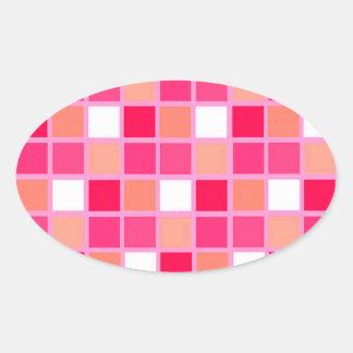 Tuiles espiègles de couleur de rouge à lèvres de sticker ovale