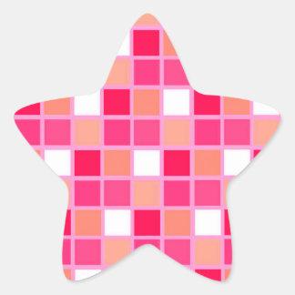 Tuiles espiègles de couleur de rouge à lèvres de sticker étoile