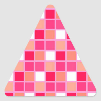 Tuiles espiègles de couleur de rouge à lèvres de sticker triangulaire