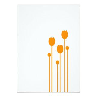 tulipe fleur blumenstrauß tulipes des étés flower  carton d'invitation  12,7 cm x 17,78 cm