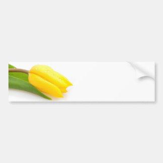 Tulipe jaune autocollant de voiture