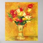 Tulipes par Pierre Renoir, art vintage Poster