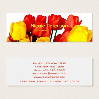 tulipes rouges et jaunes - fleuriste mini carte de visite