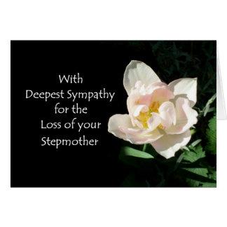 Tulpe-Beileids-Karte - Verlust einer Stiefmutter Grußkarte
