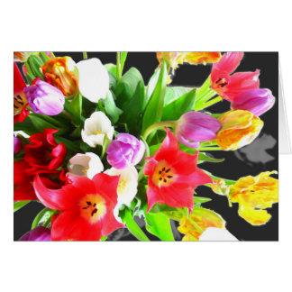 Tulpe-Blumen-Blumenstrauß Karte