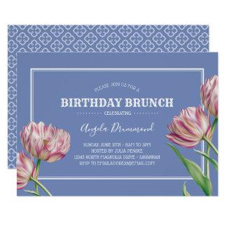 Tulpe-Blumen-Geburtstagbrunch-Veilchen Karte