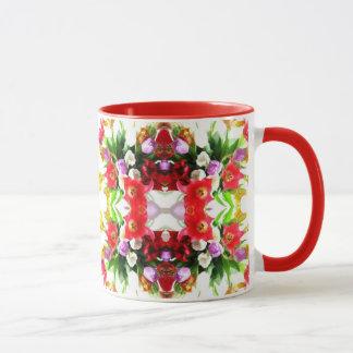 Tulpe-Blumenmuster Tasse