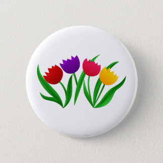 Tulpe-Blüte Runder Button 5,7 Cm