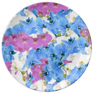 Tulpe-bunte dekorative Porzellan-mit Blumenplatte Porzellanteller