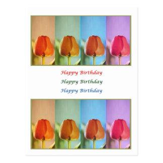 Tulpe-erstaunliche Kunst - HappyBirthday Parade Postkarte